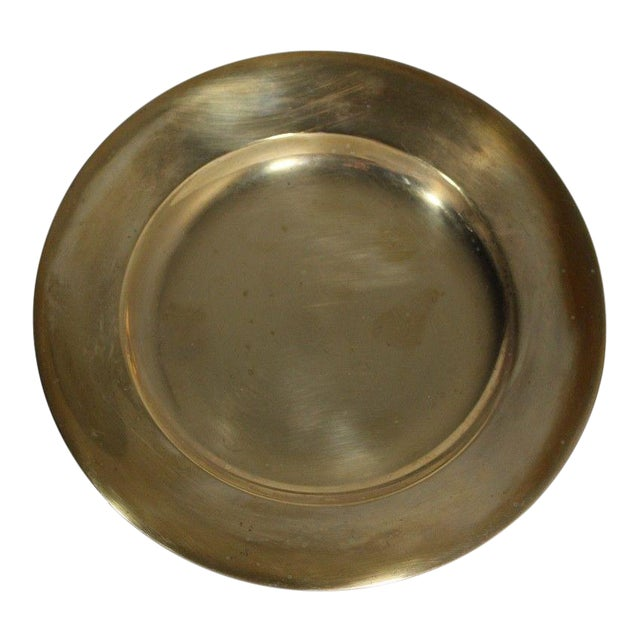 1930s Regal Dirilyte Dirigold Sweden Heavy Gold Plated Charger Plate For Sale