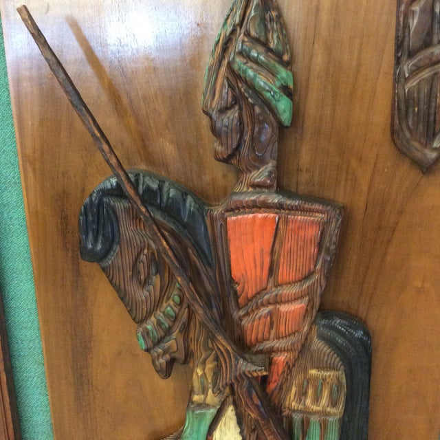 Wood Witco Don Quixote Knight Wood Carved Wall Art For Sale - Image 7 of 11