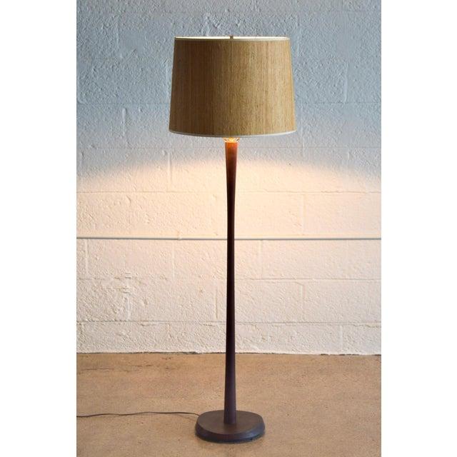 Laurel Mid Century Modern Teak Floor Lamp - Image 4 of 6