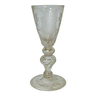 Armorial Wine Goblet For Sale