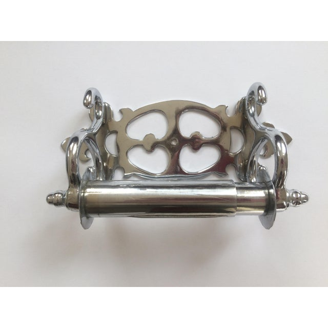 1900 - 1909 Nickel-Clad Late Victorian Tissue Paper Holder For Sale - Image 5 of 5