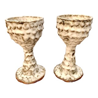 Studio Pottery Chalices - a Pair For Sale