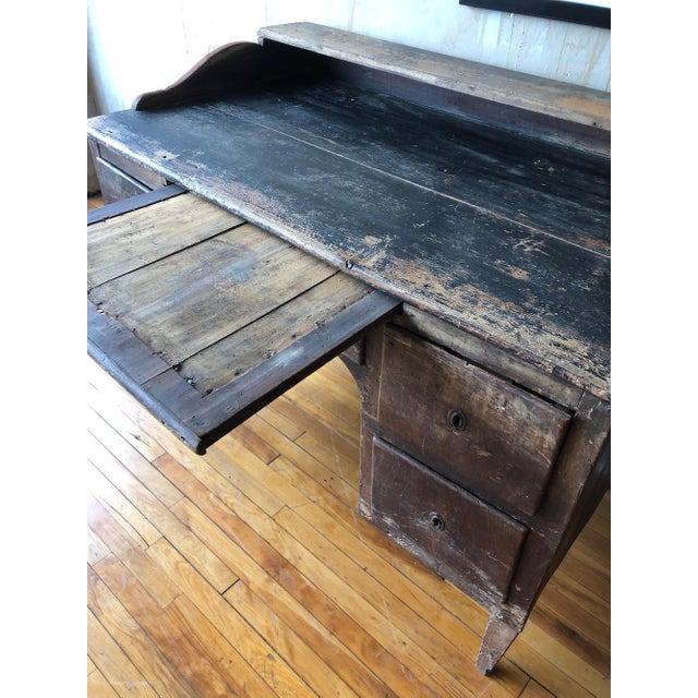 Wood Rustic Tuscan Office Desk For Sale - Image 7 of 11