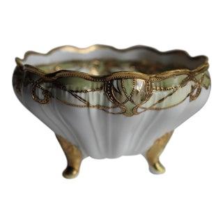 Antique Noritake Gold Porcelain Dish, Circa 1910 For Sale