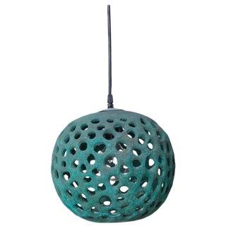Stan Bitters Ceramic Lantern in Copper Green, Usa, 2017 For Sale