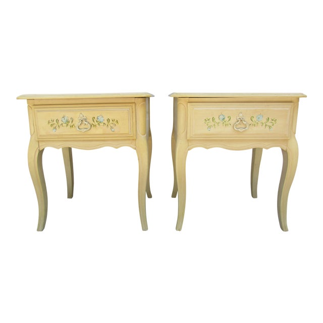 20th Century French Country Nightstands - a Pair For Sale