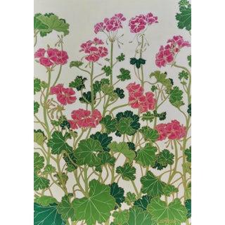 """""""Pelargonium X Hortorum (Geranium)"""" Contemporary Botanical Mixed-Media Painting"""