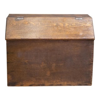 Handmade Lidded Wooden Box/Storage Bin C.1940 For Sale