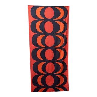 "1960s Contemporary Marimekko Oy Suomi Finland"" Kaivo"" Maija Isola Fabric - 50ʺW × 108ʺD For Sale"