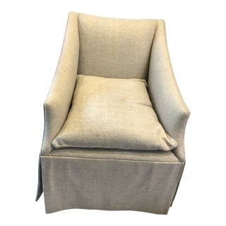 "Century Furniture Linen Skirted ""Coloney"" Chair"