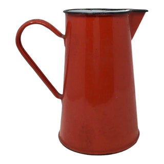 French Enamel Pitcher For Sale