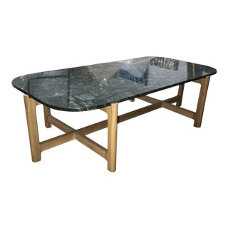 "Gus Modern ""Quarry"" Rectangular Green Marble Coffee Table For Sale"