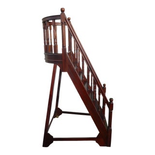 Late 20th Century Towering Library Step Ladder For Sale