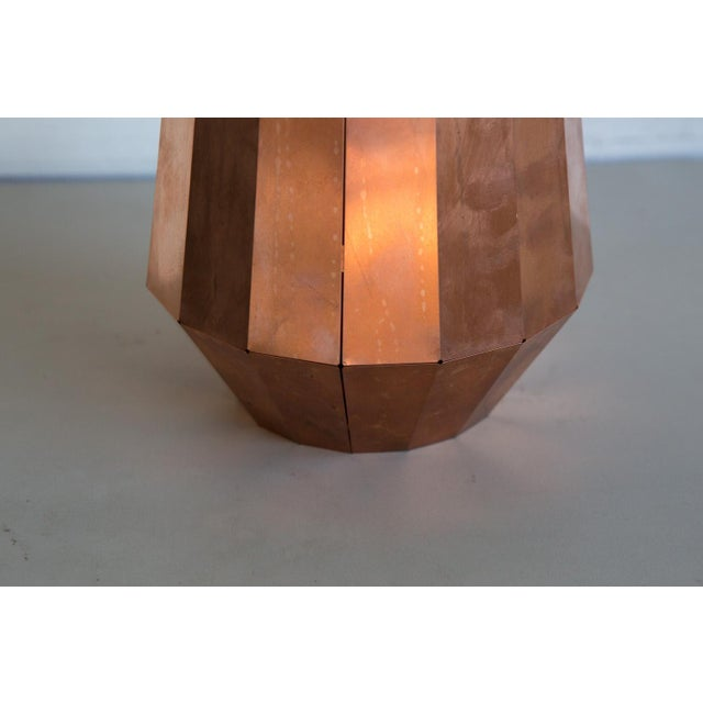 Contemporary David Derksen Copper Light Shade Sculpture For Sale - Image 3 of 6