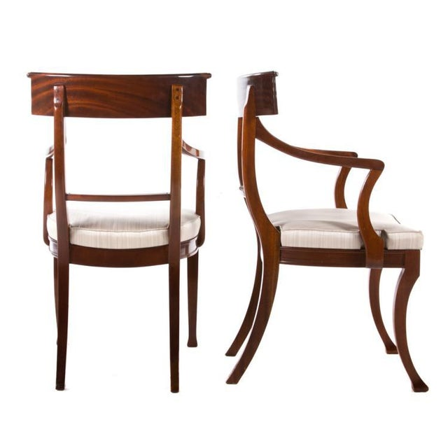 Art Deco 20th Century Mahogany Klismos Chairs- Pair For Sale - Image 3 of 8