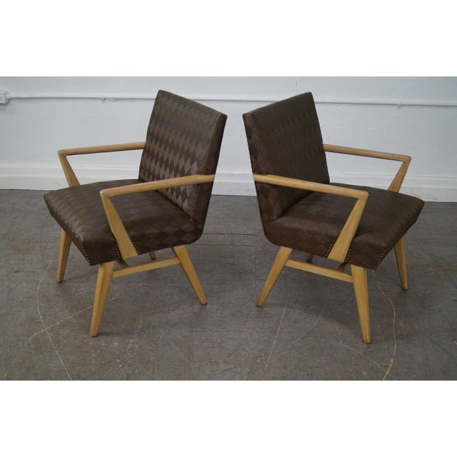 Mid-Century Modern Mid-Century Russel Wright Lounge Chairs - Pair For Sale - Image 3 of 10