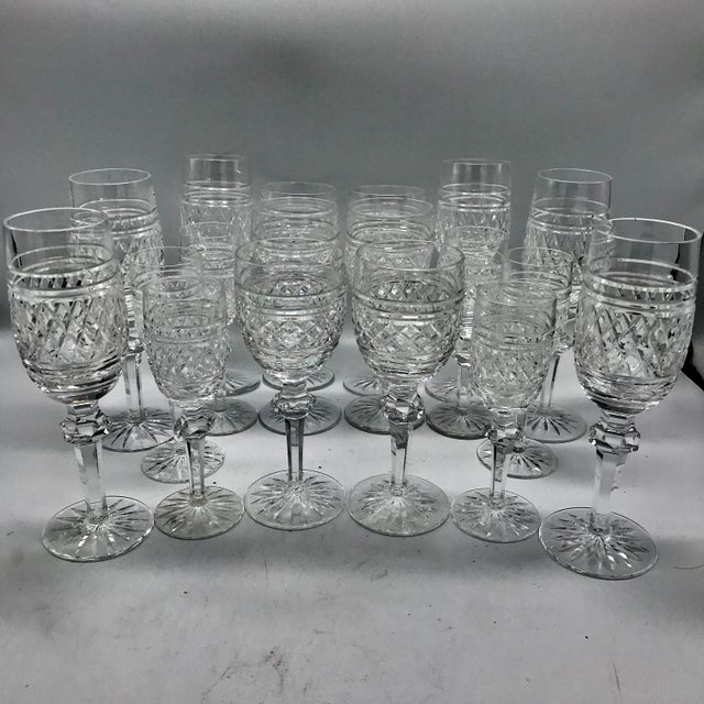 Waterford in Rare Archive Castletown Pattern Crystal Glasses - 18 Pieces For Sale - Image 11 of 11