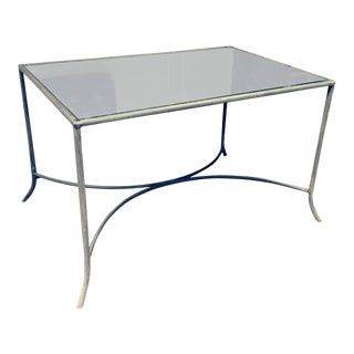 Zinc and Antique Mirror Coffee or Garden Table For Sale