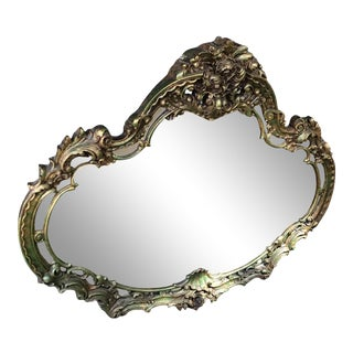Mid 20th Century Rococo Gilt Carved Mantel Mirror For Sale