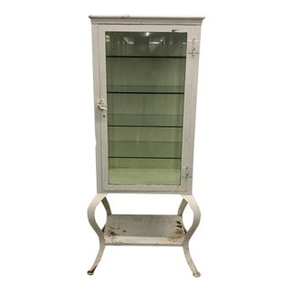 1920s New England Doctors Medical Cabinet With Cabriole Legs For Sale