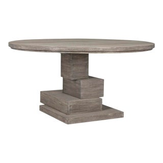 Hancock Dining Table, Distressed Grey For Sale