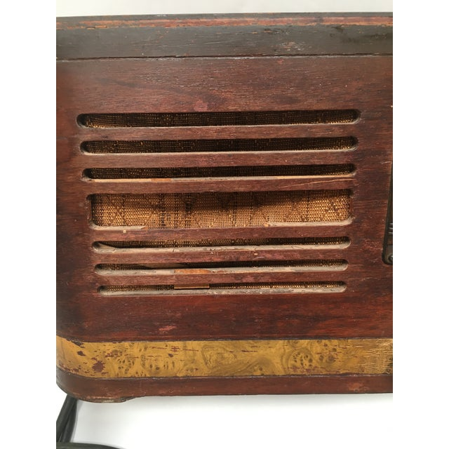 1940s Vintage Watterson Mid-Century Wood Radio/Short Wave For Sale - Image 9 of 10