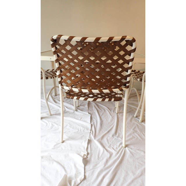 Tropitone Brown & White Outdoor Patio Set - Set of 5 - Image 8 of 11