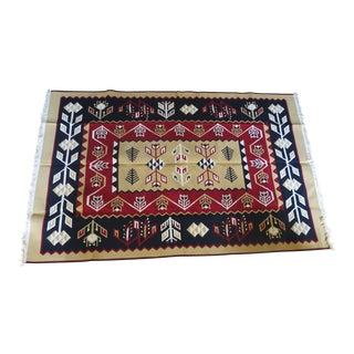 Reversible Kilim Turkish Rug - 5′3″ × 8′4″