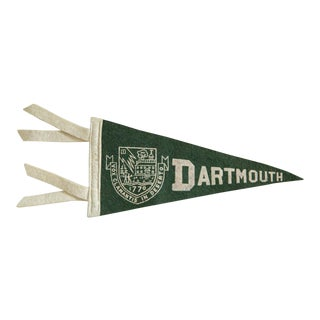 Vintage Dartmouth Felt Flag Pennant For Sale