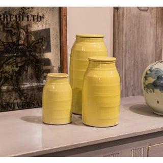 Transitional Sarreid Ltd. Yellow Ceramic Milk Jar Preview