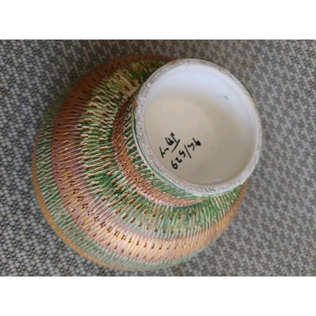Vintage Bitossi Italy Ceramic Footed Bowl For Sale In Palm Springs - Image 6 of 8