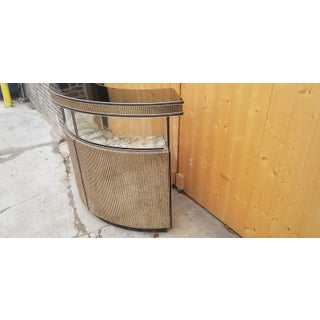 1960s Vintage Hollywood Regency Metallic and Black Lacquer Dry Bar Preview