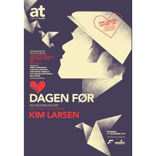 2014c. Contemporary Danish Poster, Mads Berg - Kim Larsen For Sale