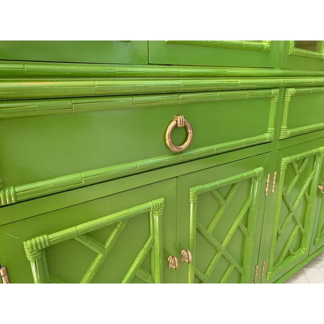 Asian Chinoiserie China Cabinet by Thomasville For Sale - Image 3 of 8