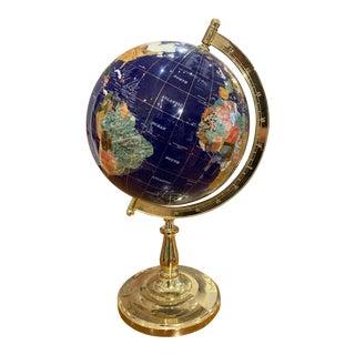 Inlaid Geode Globe For Sale