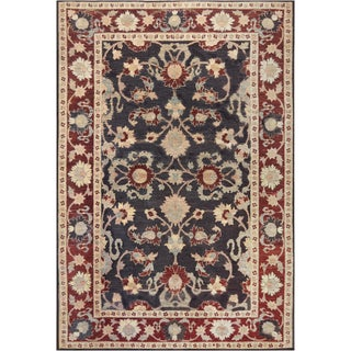 "Mansour Quality Handwoven Agra Rug - 6' X 8'6"" For Sale"
