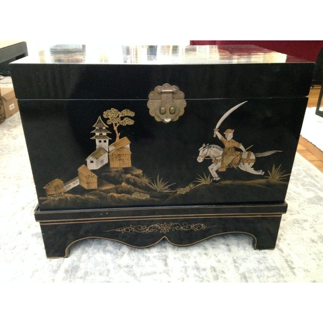 Vintage Chinese Laquered Chests - A Pair - Image 9 of 11