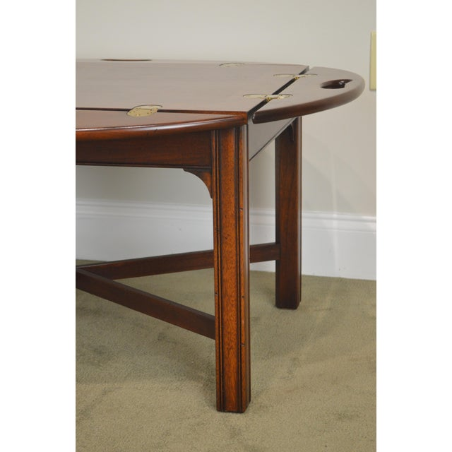 Chippendale Style Mahogany Butlers Coffee Table For Sale - Image 12 of 13