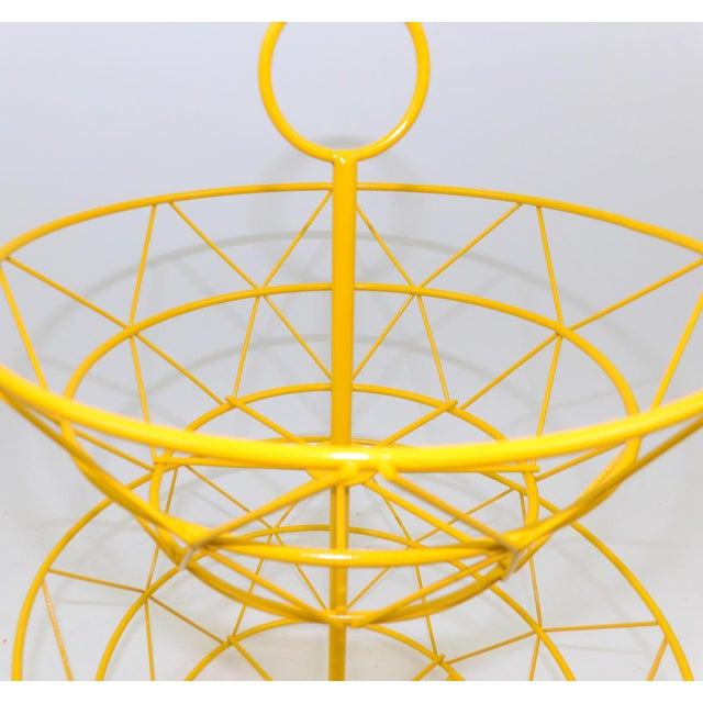 Yellow Metal Fruit Basket - Image 3 of 6