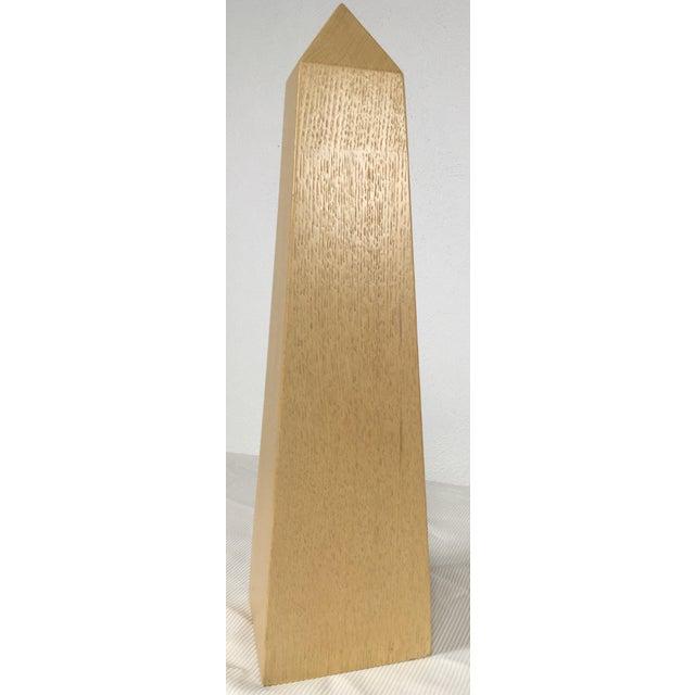 Modern Monumental Bleached Oak Obelisk For Sale - Image 4 of 7