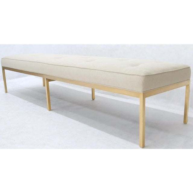 Metal Extra Long Solid Brass Base Frame Spring Loaded New Upholstery Bench Daybed For Sale - Image 7 of 13