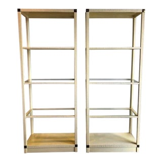 1980s Drexel Heritage Bookshelves - a Pair For Sale