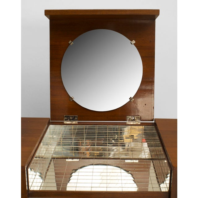 French Art Deco Mahogany Dressing For Sale In New York - Image 6 of 7
