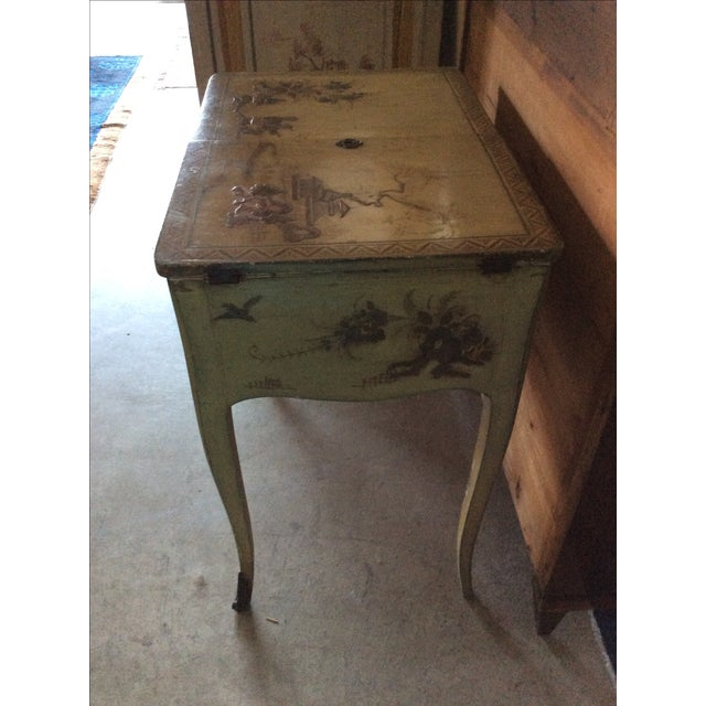 Shabby Chic Vintage Chinoiserie Vanity - Image 9 of 9
