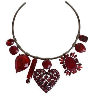 Philippe Ferrandis Swarovski Crystal Torque Necklace For Sale