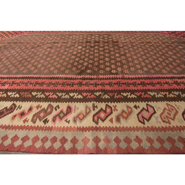 "Apadana - Vintage Persian Kilim Rug, 5'8"" x 9'2"" For Sale - Image 4 of 6"