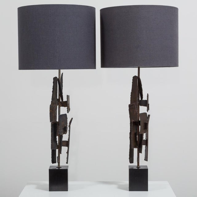 Pair of Brutal Richard Barr Designed Table Lamps Circa 1965 For Sale - Image 6 of 6