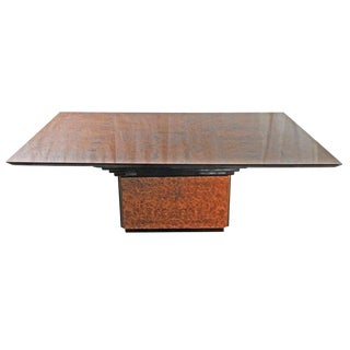 Vintage Burlwood Dining Table by Dec Madrid S.A. For Sale