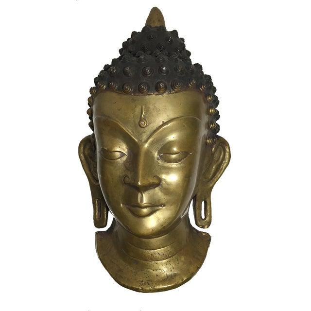 Vintage Brass Head Buddha - Image 1 of 7