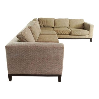 Crate and Barrel Upholstered Sectional For Sale